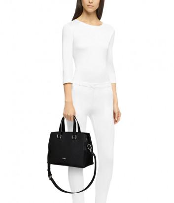 Кожаная сумка FURLA NEXT 1055989 черная