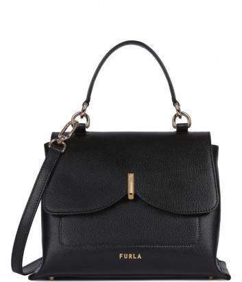 Кожаная сумка FURLA RIBBON 1056675 черная