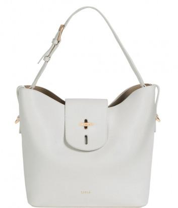 Кожаная сумка FURLA NET 1056777 белая