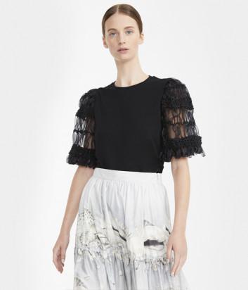 Блуза WEEKEND Max Mara EXPLOIT WE59410101 с фактурными рукавами черная