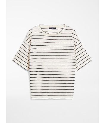 Льняная футболка WEEKEND Max Mara ODILE WE59410301 в полоску
