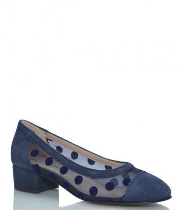 Замшевые туфли ROBERTO SERPENTINI 1732 синие