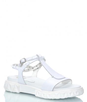 Кожаные сандалии JEANNOT 37130 белые