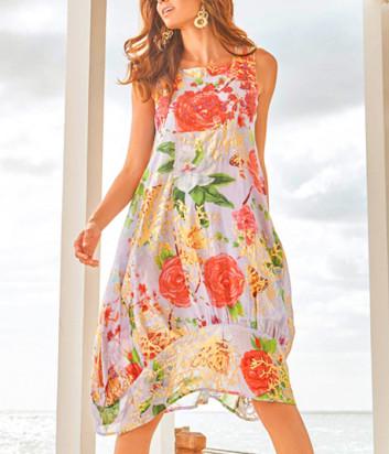 Платье ICONIQUE IC20-072 с цветочным принтом