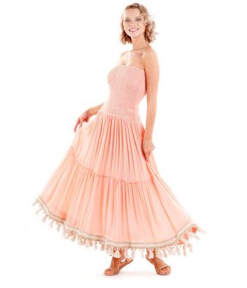 Длинное платье ICONIQUE IC20-069 персиковое