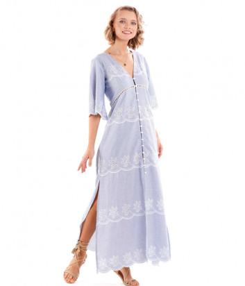 Длинное платье ICONIQUE IC20-080 голубое