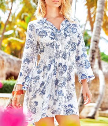 Рубашка-платье ICONIQUE IC20-103 голубой принт