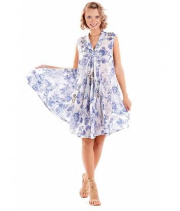 Платье ICONIQUE IC20-104 голубой принт