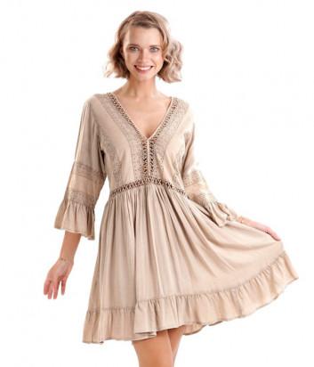 Платье ICONIQUE IC20-133 бежевое