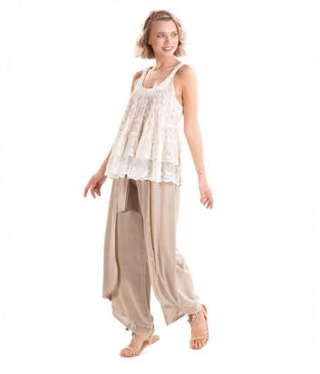 Широкие брюки ICONIQUE IC20-035 бежевые