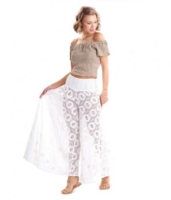 Пляжные брюки-юбка ICONIQUE IC20-038 белые