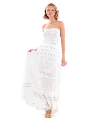 Длинное платье ICONIQUE IC20-064 белое