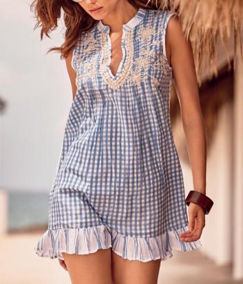 Платье ICONIQUE IC20-099 бело-синий принт