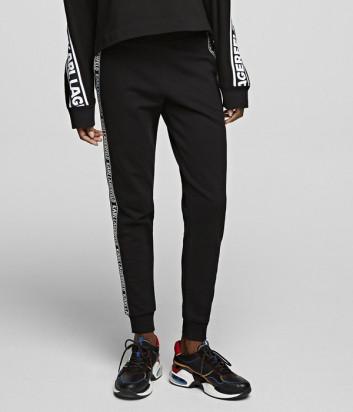 Спортивные штаны KARL LAGERFELD 201W1049 черные с надписями