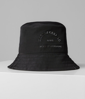 Панама KARL LAGERFELD 201W3420 черная с логотипом