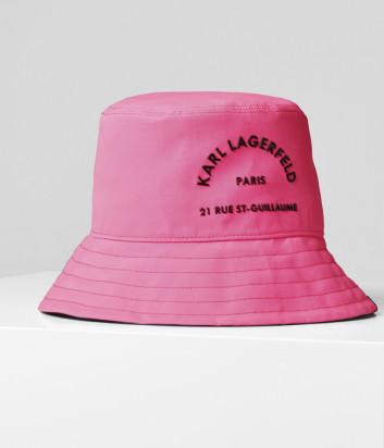 Панама KARL LAGERFELD 201W3420 розовая с логотипом