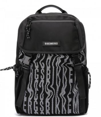 Рюкзак BIKKEMBERGS E2APME840025B01 черный с принтом