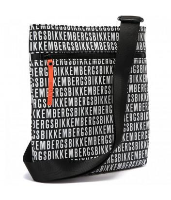 Сумка через плечо BIKKEMBERGS E2APME810022B01 черная с принтом