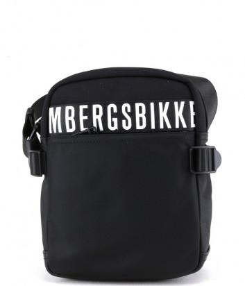Сумка через плечо BIKKEMBERGS E2APME800012 черная с принтом