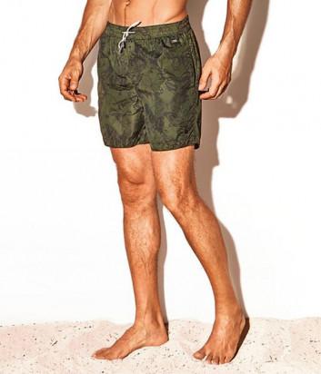 Шорты DAVID DM20-012 зеленые с принтом