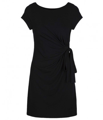 Платье LINGADORE 4304 декорировано собранной тканью в виде бантика с одной стороны черное