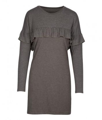 Платье LINGADORE 4408 декорировано рюшами оливковое