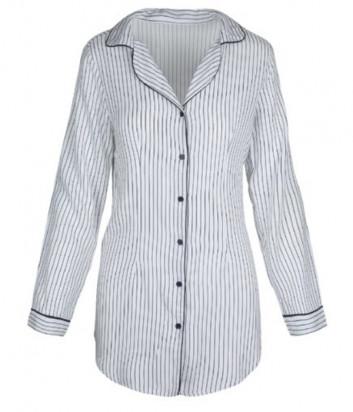 Ночная рубашка LINGADORE 4331 с вертикальной полоской и V-образным вырезом