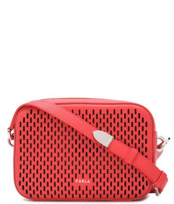 Сумка через плечо FURLA BLOCK MINI 1060264 в перфорированной коже красная