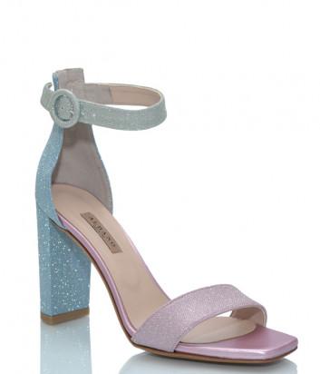 Кожаные босоножки ALBANO 4055 на высоком каблуке цветные
