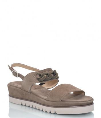 Замшевые сандалии LUCA GROSSI 604 коричневые