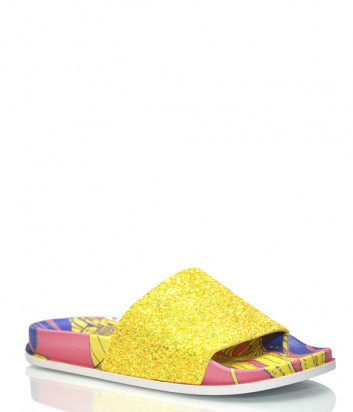 Шлепанцы TOWN 191 Lombok Glitter желтые