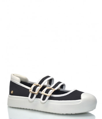 Туфли ROCCOBAROCCO с застежками черные