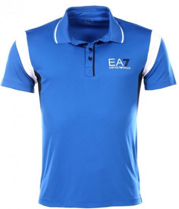Поло EA7 EMPORIO ARMANI 3YPF64 PJ14Z синее