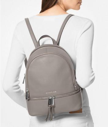 Кожаный рюкзак MICHAEL KORS RHEA 30S5GEZB1L средний серый