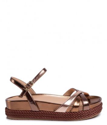 Кожаные сандалии LIU JO PATTY SA0081EX029 на платформе бронзовые