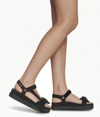 Замшевые сандалии LIU JO PATTY SA0083P0021 на платформе черные