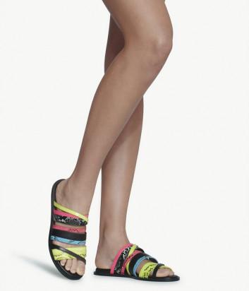 Кожаные шлепанцы LIU JO THEA SA0101EX005 цветные