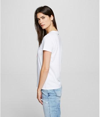 Белая футболка KARL LAGERFELD Ikonik 201W1738 с рисунком