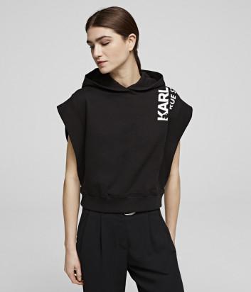 Жилет Karl Lagerfeld 201W1851 с капюшоном черный
