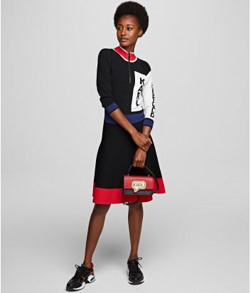 Компактная сумка Karl Lagerfeld 201W3125 с пиксельным принтом черно-красная