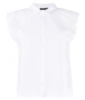 Блуза ERMANNO ERMANNO SCERVINO 46TCM06RCM с коротким рукавом белая