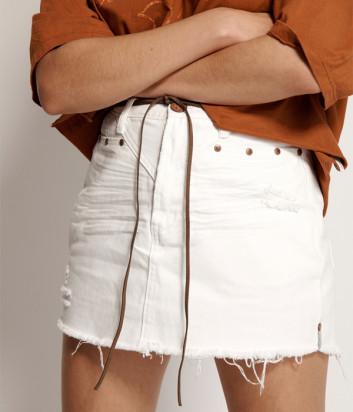 Джинсовая юбка ONE TEASPOON 23006 белая