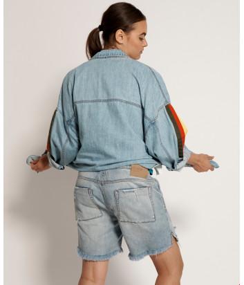 Джинсовые шорты ONE TEASPOON 22996 голубые