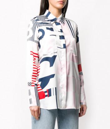 Рубашка ICEBERG G1215275 с принтом