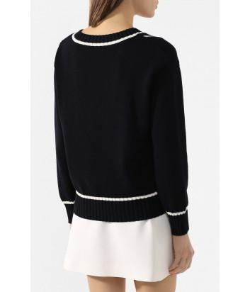 Пуловер VIVETTA A0097604 черный с вышивкой