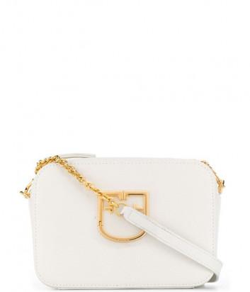 Компактная кожаная сумка Furla Brava 1013954 на цепочке белая