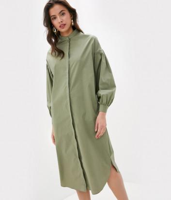 Платье-рубашка TWIN-SET 201TT2039 со съемным ремнем оливковое