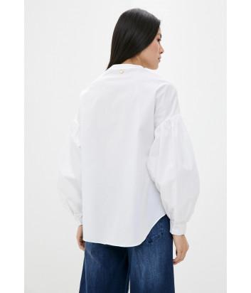 Белая рубашка TWIN-SET 201TT2035 с пышным рукавом