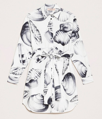 Длинная рубашка TWIN-SET 201TT2534 с поясом на талии