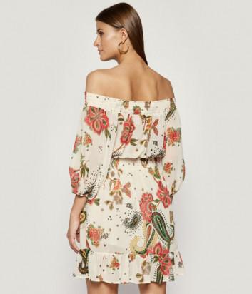Платье-туника LIU JO F19207 кремовая с цветочным принтом